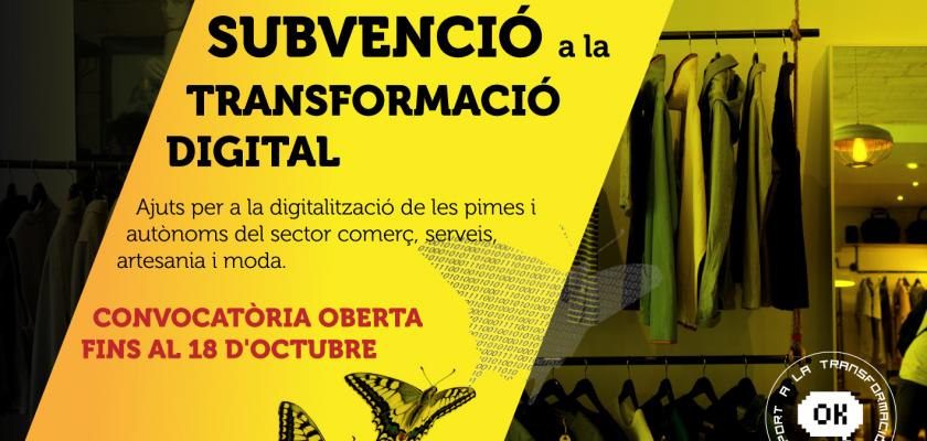 SUVENCIONS A LA TRANSFORMACIÓ DIGITAL