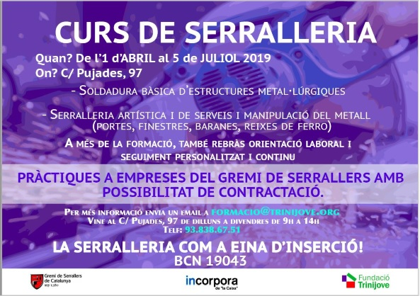 CURS DE SERRALLERIA GRATUIT