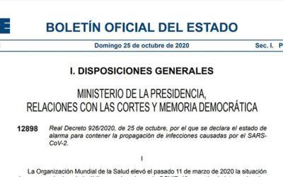 El Gobierno español decreta el estado de alarma hasta el 9 de Mayo.